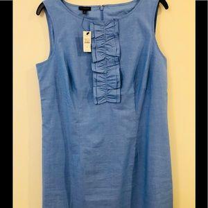 NWT Talbots Size 8 Light denim Color Cotton Dress